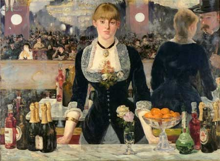 douard manet Un Bar aux Folies Bergre 