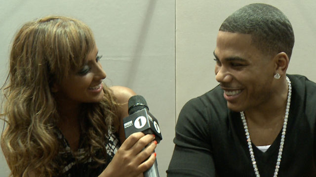 Nelly chats to Max at the 2010 MOBO Awards