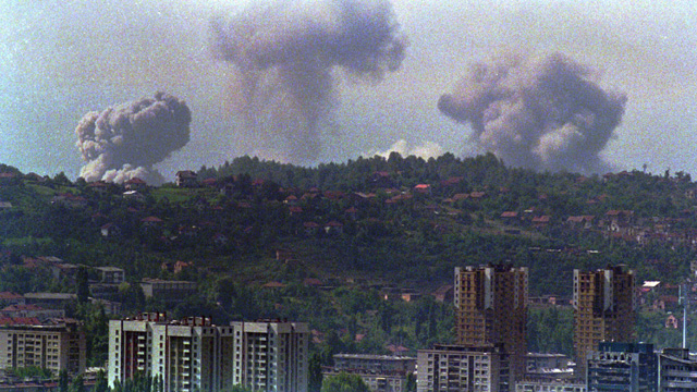 Nato airstrikes against Bosnian Serb positions around Sarajevo