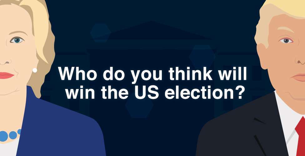 Predict The President Will Clinton Or Trump Win The US Election - Bbc us election map
