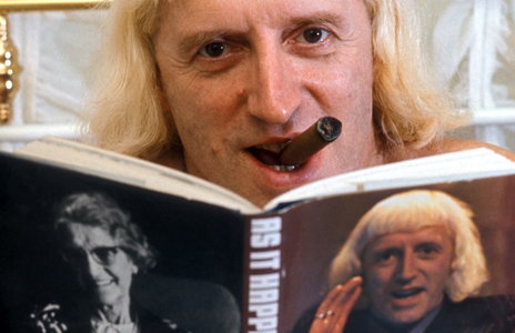 Savile reads his autobiography