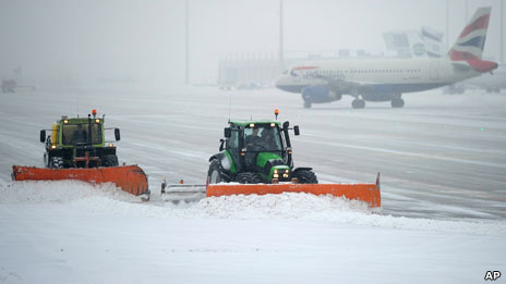 Snow ploughs at Heathrow