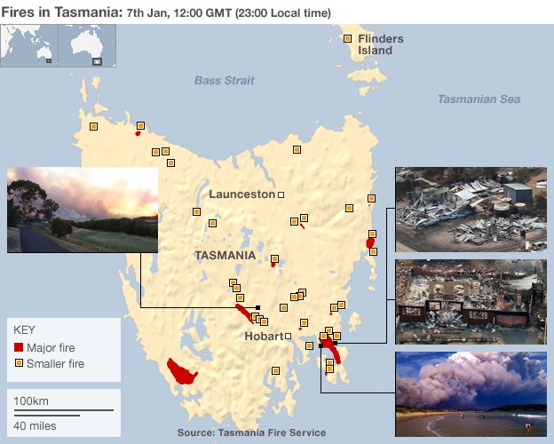 Hamilton (Tasmania) Australia  city photo : Australia PM Gillard visits fire hit Tasmania BBC News