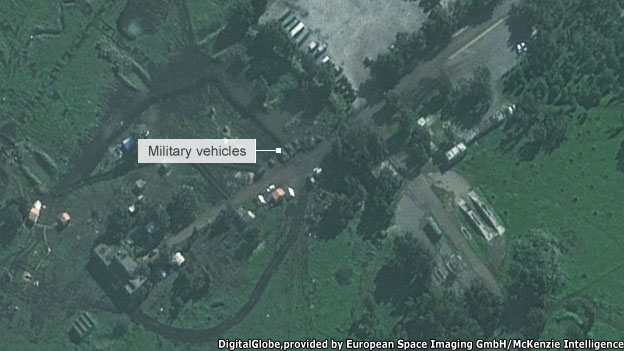 Satellite image of military base