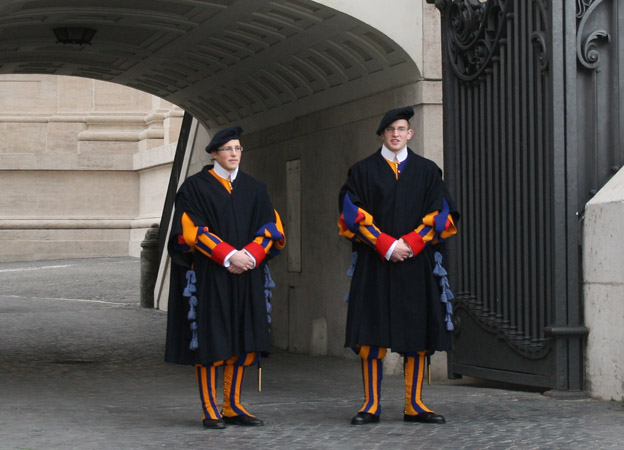 Two members of Swiss guard
