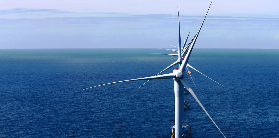 Image: The windfarm off the coast of cumbria