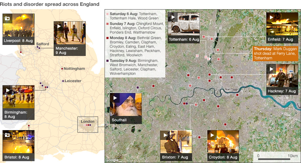 uk riots all 976map Londres