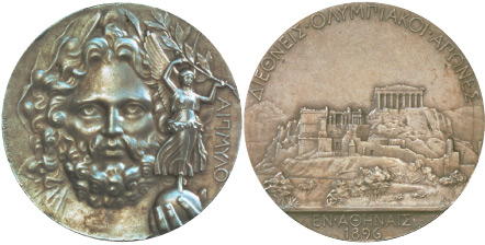 1896 olympic medal. Image courtesy of IOC