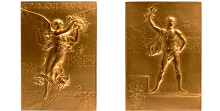 1900 olympic medal. Image courtesy of IOC
