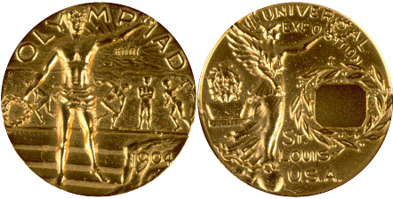 1904 olympic medal. Image courtesy of IOC