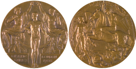 1908 olympic medal. Image courtesy of IOC
