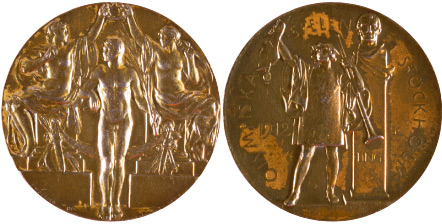 1912 olympic medal. Image courtesy of IOC
