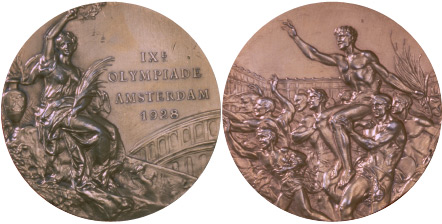 1928 olympic medal. Image courtesy of IOC