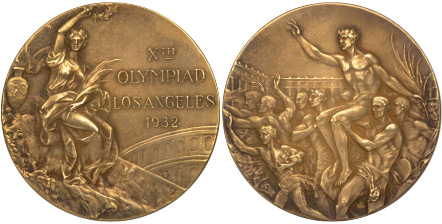 1932 olympic medal. Image courtesy of IOC