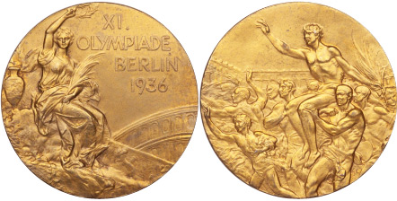1936 olympic medal. Image courtesy of IOC