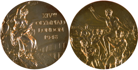 1948 olympic medal. Image courtesy of IOC