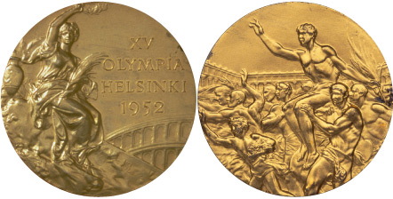 1952 olympic medal. Image courtesy of IOC