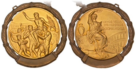 1960 olympic medal. Image courtesy of IOC
