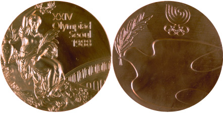 1988 olympic medal. Image courtesy of IOC