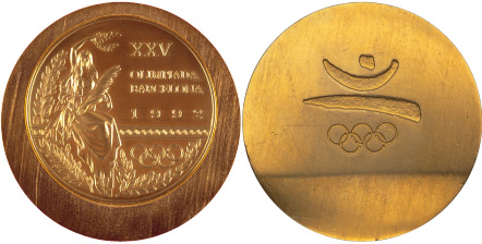 1992 olympic medal. Image courtesy of IOC