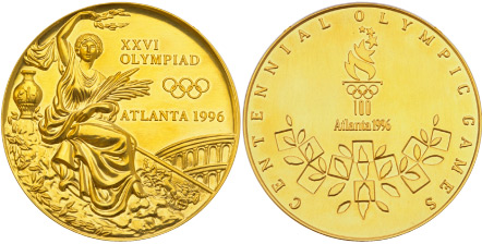 1996 olympic medal. Image courtesy of IOC