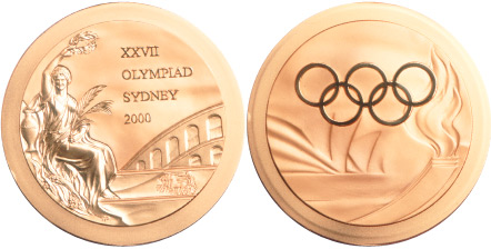 2000 olympic medal. Image courtesy of IOC