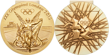 2012 olympic medal. Image courtesy of IOC
