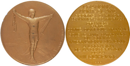 1924 olympic medal. Image courtesy of IOC