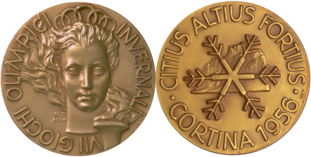 1956 olympic medal. Image courtesy of IOC