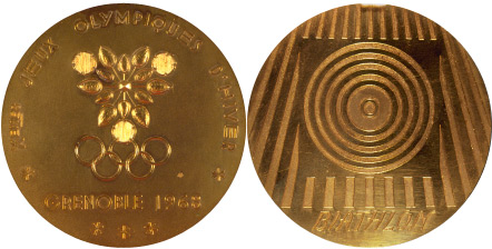 1968 olympic medal. Image courtesy of IOC