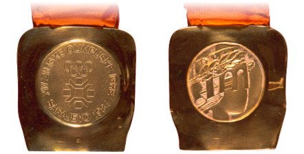 1984 olympic medal. Image courtesy of IOC
