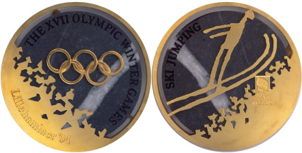 1994 olympic medal. Image courtesy of IOC