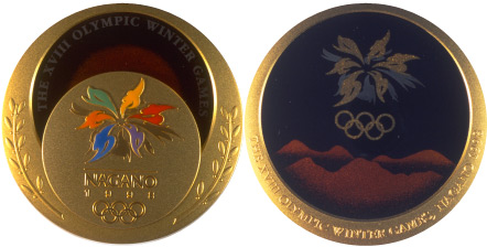 1998 olympic medal. Image courtesy of IOC