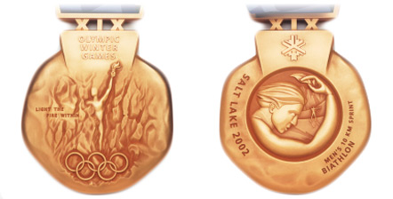 2002 olympic medal. Image courtesy of IOC