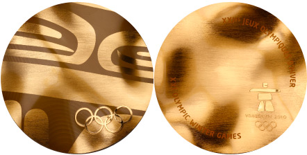 2010 olympic medal. Image courtesy of IOC
