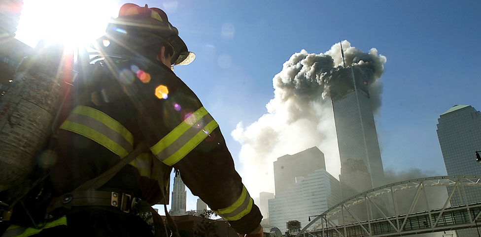 Image: 9/11 fire fighter