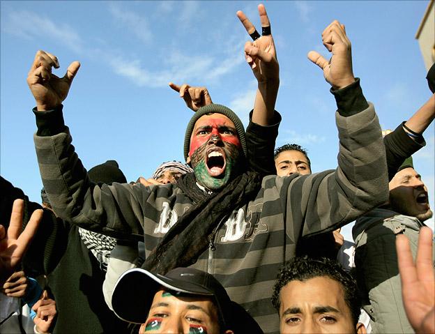 Bbc news libya the fall of gaddafi violent protests 16 23 february sciox Choice Image