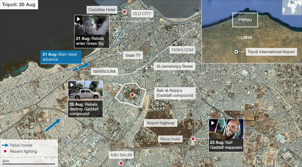 BBC News Map Fighting in Tripoli