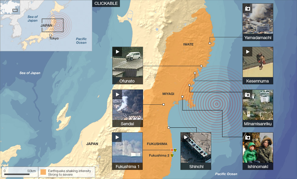 march 2011 tsunami map. click here for link to BBC map