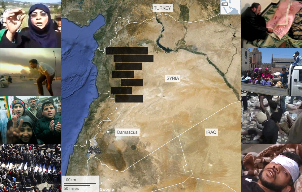 Syria massacre map