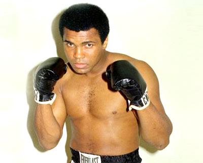 Muhammad Ali boxing stance