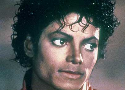 Michael Jackson as he looked filming Thriller