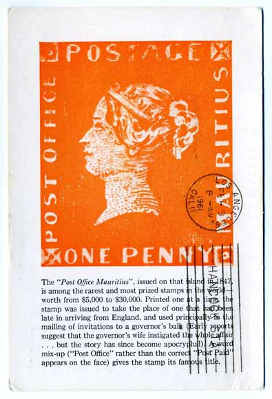 pentathol postcard from Mauritius, front