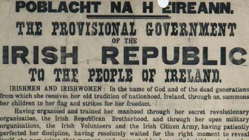 Video - Gerry Anderson explores a poster - Proclamation of the Irish Republic 1916