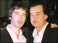 Noel Gallagher and Jimmy Page