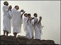 Praying at the top of Mina Mountain