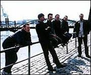 Birmingham Boys in Brown at Hamburg docks.