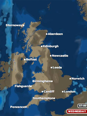 bbc weather forecast 27/07/11