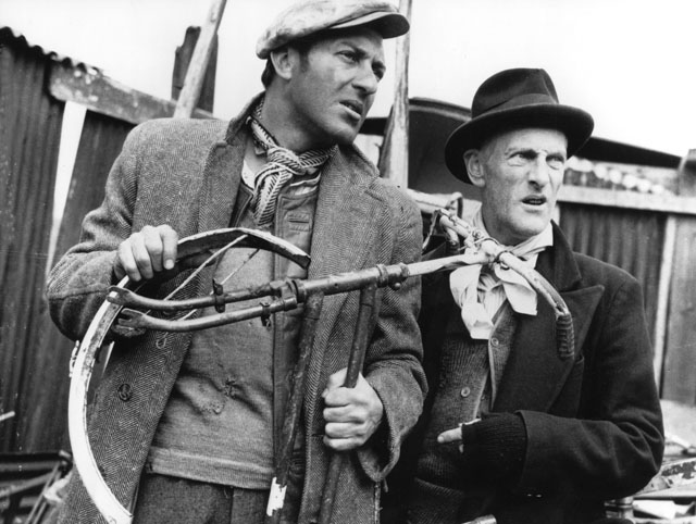 Harry H.Corbett (left) and Wilfrid Brambell playing the lead roles of Steptoe and Son.