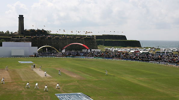 The Galle cricket ground in Sri Lanka